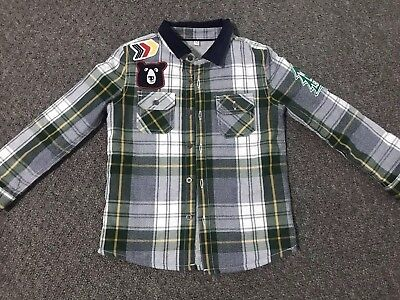 Baby Boys M&S Age 2-3 Years Checked Padded Shirt