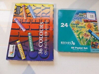 2 sets of oil pastels Reeves and Inscribe