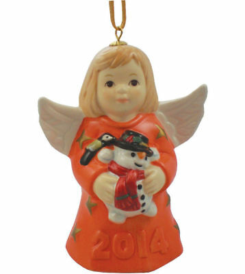 Goebel | 2014 ANGEL BELL ANNUAL CHRISTMAS TREE ORNAMENT *NEW* ORANGE RARE 38TH