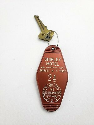Vintage Hotel Key Fob Shirley Motel Shirley New York Room 24