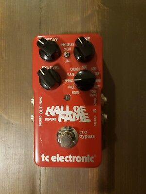 TC ELECTRONIC HALL OF FAME Reverb guitar pedal