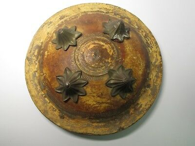 Antique Armor Shield Brass Bronze Fittings Unknown Origin Possibly Asian African