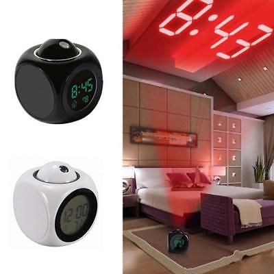 LED Projection Display Alarm Clock Kids Children Room Night Lamps Gifts Supply