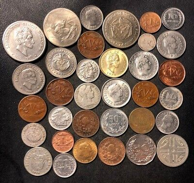 Old Colombia Coin Lot - 1881-Present - 34 Great Coins - Lot #N16