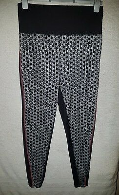 Ladies size 10 maternity black white gym leggings good quality condition lovely!