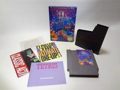 Tetris With Box & Manual for Nintendo NES 100% Authentic / Fast Free Shipping!