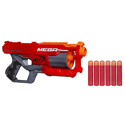 Nerf N-Strike Elite Mega Cycloneshock Blaster With 6 Darts Brand New