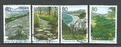 ˳˳ ҉ ˳˳R281-84 Japan Prefectural Old Path for Kumano, Mie 1999 complete set