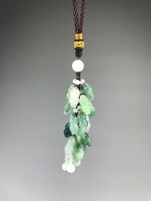 Ancient Chinese natural jade pure handmade car pendant....,,