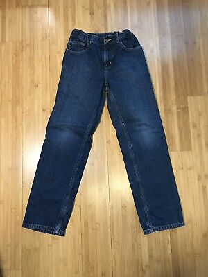 LL Bean Boys Jeans Size 12 Shell Fabric Lining