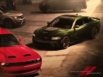 2019 Dodge Challenger Hellcat Charger + More 12 Pages 6X7 Inches  Brochure Hemi