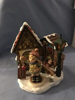 Hummelscape Bavarian Christmas Market Music House (works) With Holiday Fun #2204
