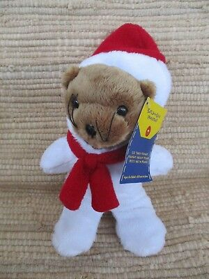 """New 2012 Build A Bear 8"""" Brown Seal / Sea Lion - New Snowman Costume- Tags"""