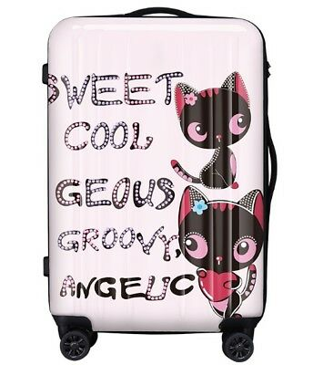 D180 Cartoon Cat Universal Wheel ABS+PC Travel Suitcase Luggage 28 Inches W