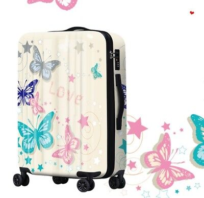 D165 Butterfly Universal Wheel ABS+PC Travel Suitcase Luggage 24 Inches W