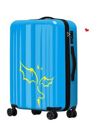 D320 Lock Universal Wheel Blue Monster Travel Suitcase Luggage 20 Inches W