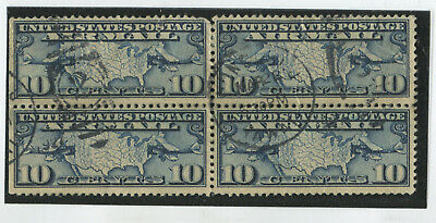 U.S. Stamps Scott #C7 Used,Blk of 4,F-VF (G7470N)