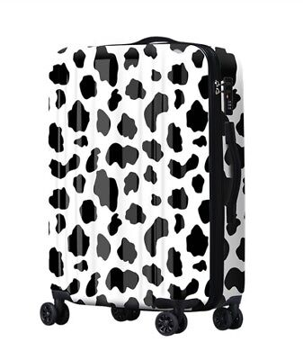 D416 Lock Universal Wheel Black Spot ABS+PC Travel Suitcase Luggage 20 Inches W