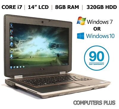 "Dell E6420 ATG (Semi-Rugged), 14.1"" Laptop, Core i7 Quad, 320HDD, HDMI, Win 7/10"
