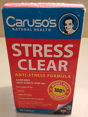 Brand New Caruso's Stress Clear 60 Tablets - Anti-Stress Mild Anxiety Exhaustion