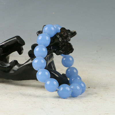 Chinese Hand-carved Natural Jade Bead Bracelet RS005