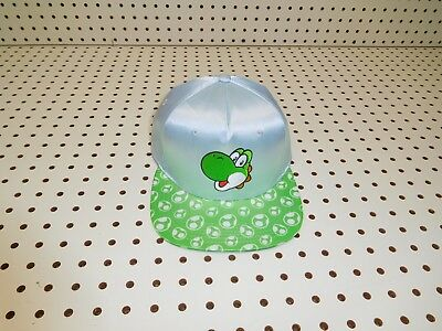 eed0020fc NEW SUPER MARIO Brothers Yoshi Snapback Cap Hat Adult in Silver ...