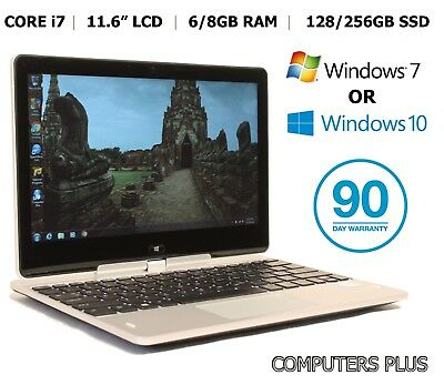 "HP EliteBook Revolve 810 Core i7, 11.6"" Convertible Touch Tablet Laptop Win 7/10"