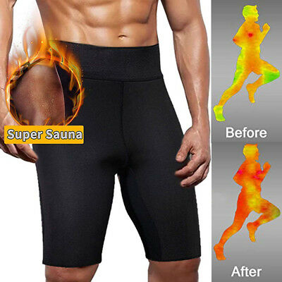Men's Hot Thermo Neoprene Sweat Sauna Body Shaper pants Weight Loss Slim Shorts