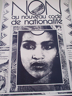 Anarchist Poster French Language Nationality Code Immigration Refugee Racism