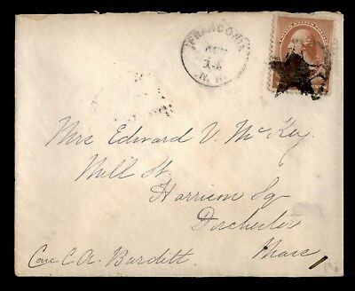 DR WHO 1880S FRANCONIA NH FANCY CANCEL STAR TO DORCHESTER MA  d58028