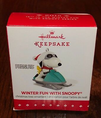 2015 Hallmark Keepsake Ornament Winter Fun With SNOOPY New NIB Old Stock Peanuts
