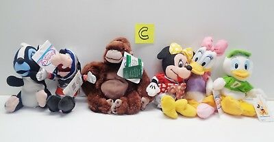 "Lot 6 Disney Store 8"" FLOWER SKUNK MINNIE DAISY Plush WITH ORIGINAL TAGS LOT C"