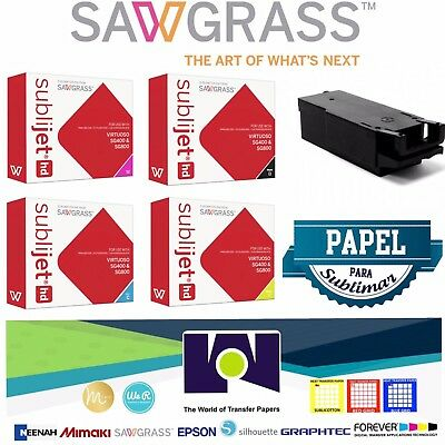 SAWGRASS Super Combo, Ink Set CMYK, Waste Tank, 100 Sh Sublipaper