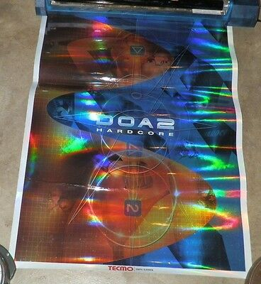DOA 2 Hardcore Reflective Registered Promo Poster Tecmo 100% Games 2000 19 x 25""