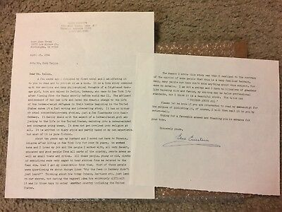 Signed letter from Elsie Einstein to Herb Yel - Original and No Reserve