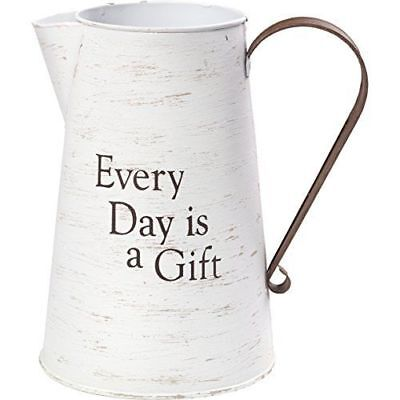 Precious Moments Every Day is A Gift Rustic Farmhouse Distressed Metal Container