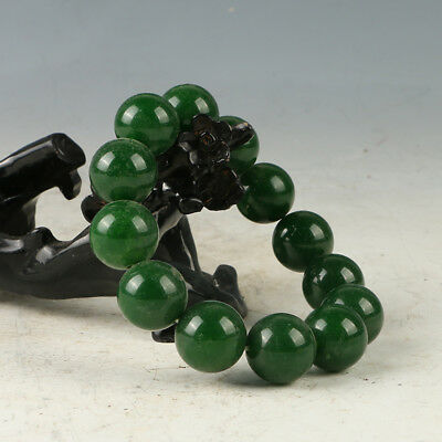 Chinese Hand-carved Natural Jade Bead Bracelet RS008