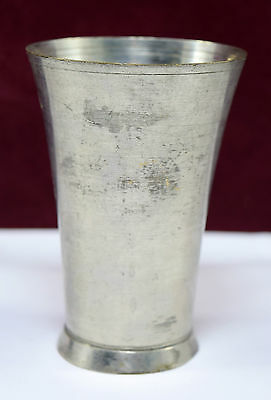 Beautiful Vintage Old Brass Indian Nickel Plated Brass Lassi Glass / Cup.G66-189