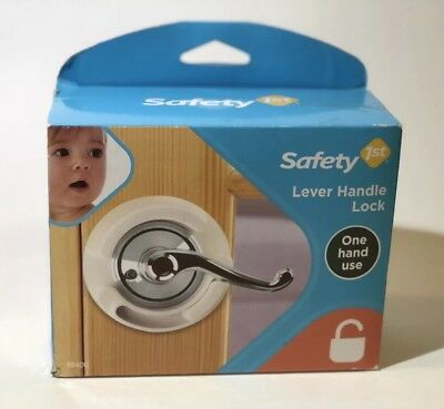 Safety 1st French Door Lever Handle Baby Proof Child Lock One Hand Use NEW