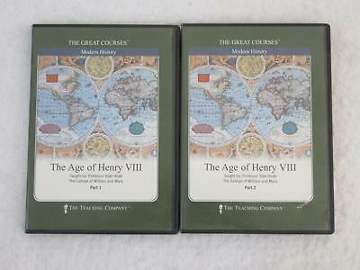 THE AGE OF HENRY VIII Parts 1 & 2 4 DVDs THE GREAT COURSES NO Guidebook