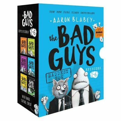NEW Bad Guys Baddest Box Episodes 1-6 6 Books Collection Aaron Blabey Kids Gift!