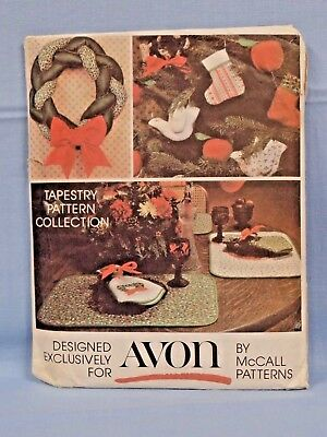 MCCALL'S AVON VINTAGE Sewing Pattern Tapestry Collection Christmas Amazing Mccalls Craft Patterns