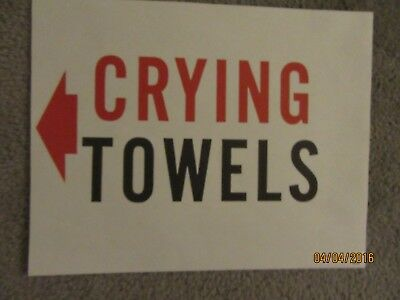 "Harolds Club Casino Reno ""crying Towels"" Sign"