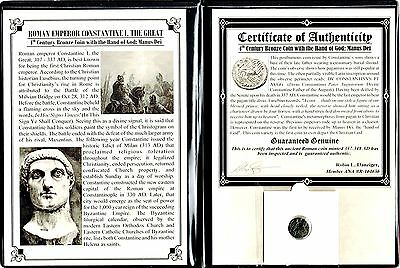Roman Constantine I Hand of God Coin with Album,Story and Certificate