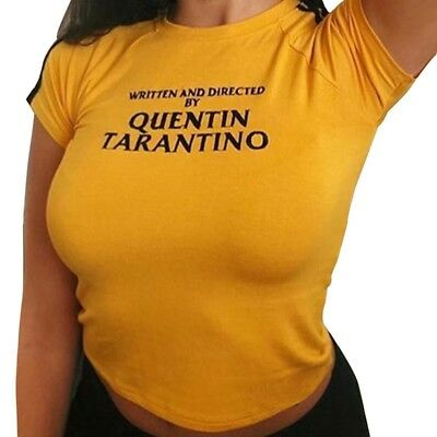 Written and Directed By Quentin Tarantino T Shirt Woman Fun Film Top Blouse Tees