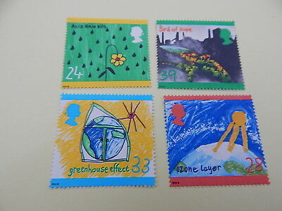 gb stamps s g 1629-1632.Protection of the Environment.Children's Paintings.