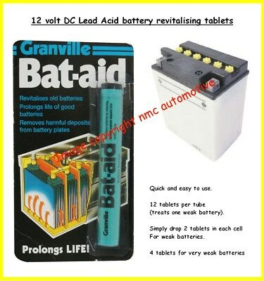 granville battaid revitalising tablets for lead acid batteries>