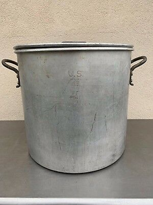 Vintage WEAR-EVER 15 Gallon  U.S. 1967 Aluminum Stock Pot  with U.S.1952 Lid