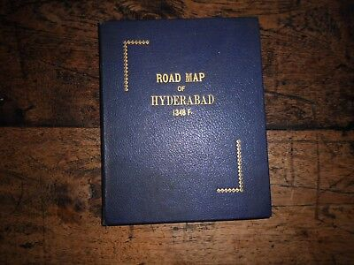 Ww2 Road Map Of Hyderabad 1348F C 1944 34 X 29 Inches India