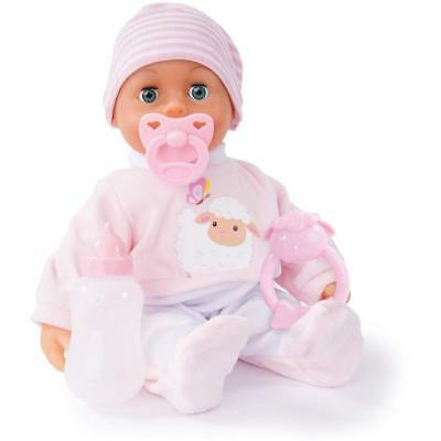 Bayer Design - First Words Baby Doll, Soft Pink/White, 38 cm